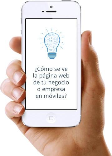 Página web en móviles responsive